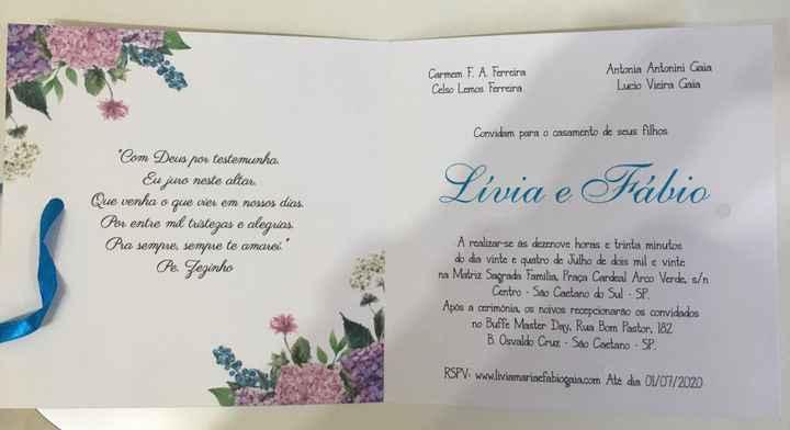Convites Chegaram - 2