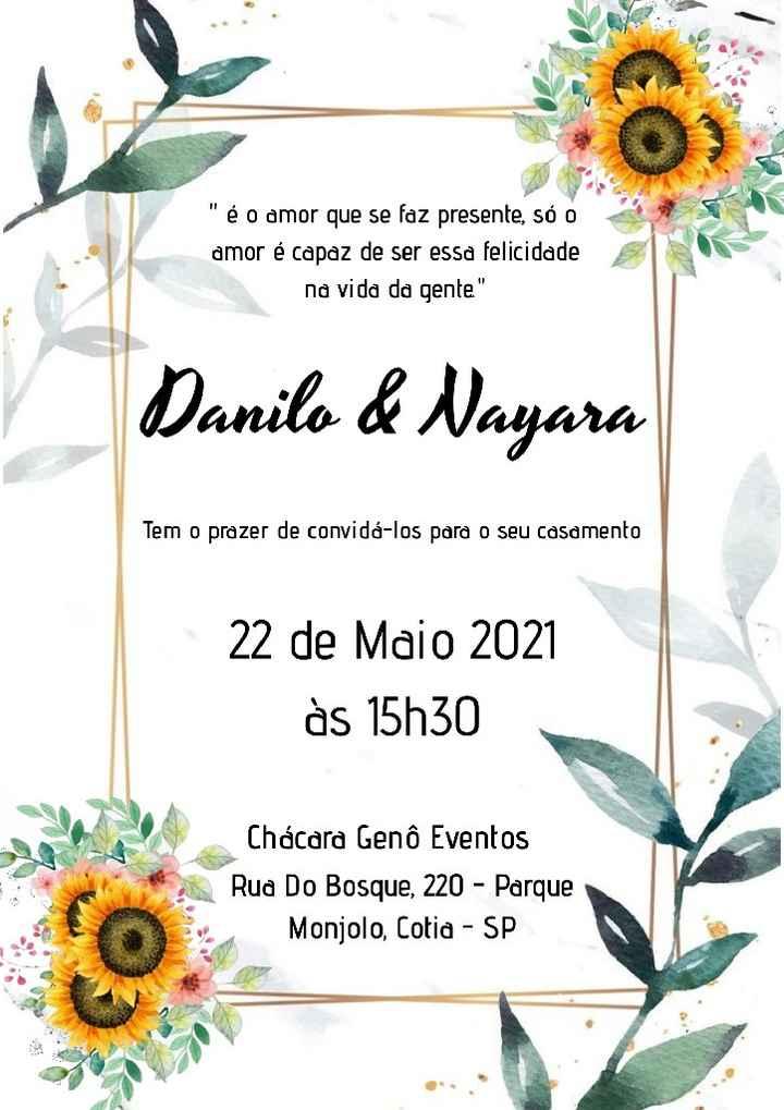 Duvida nos convites - 1