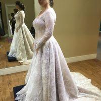 Vestido de noiva com mangas - 1