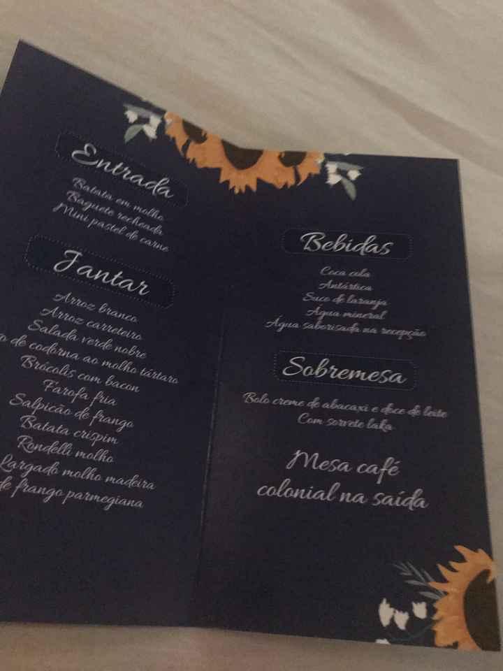 Noivas! Menu na mesa? - 2
