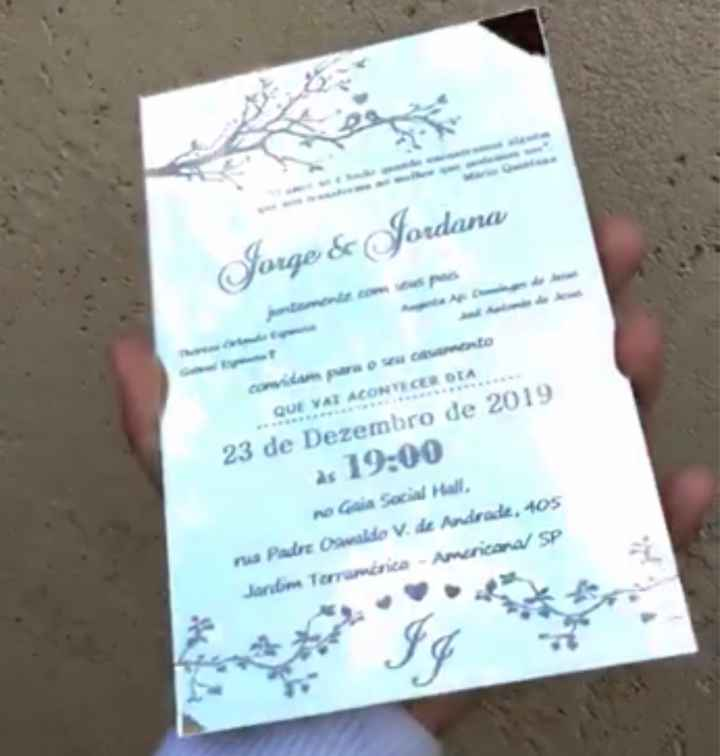 Convites dos padrinhos - 1