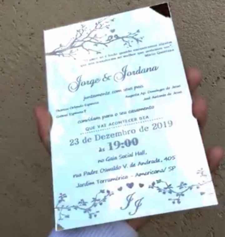 convite dos Padrinhos, Pais, daminhas e pajens - 4