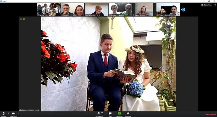 Com segurança: noivinha conta como casou em casa 👰 1
