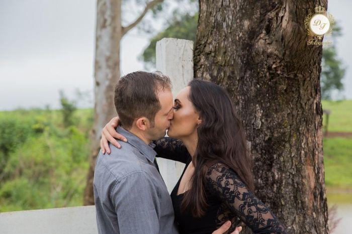 Pré-weddings na comu - Foto de beijo 7