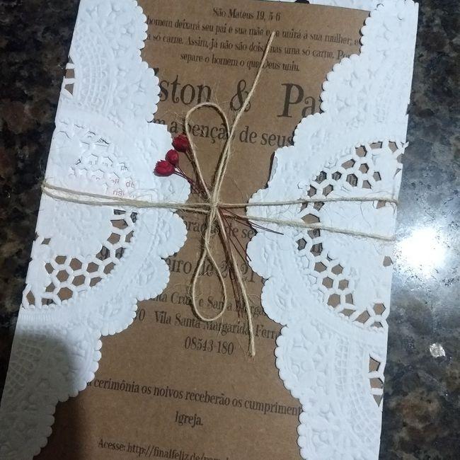 Diy convite de casamento ❤️ - 1