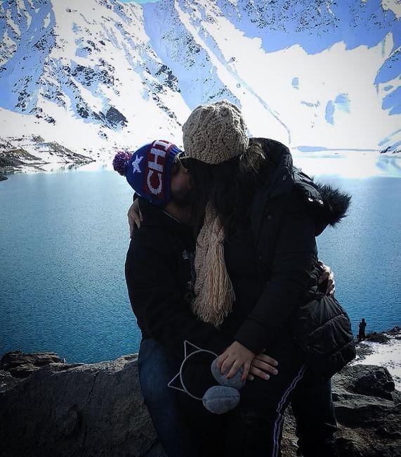 Eu e meu noivo na nossa primeira viagem internacional! - Em Cajon Del Maipo - Chile
