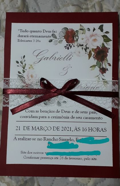 Convite diy 2