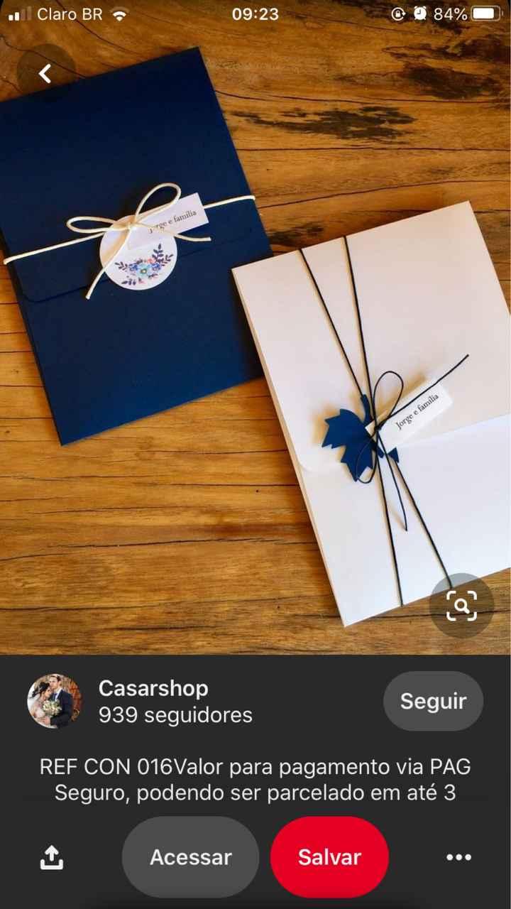 Envelope de convite - 1