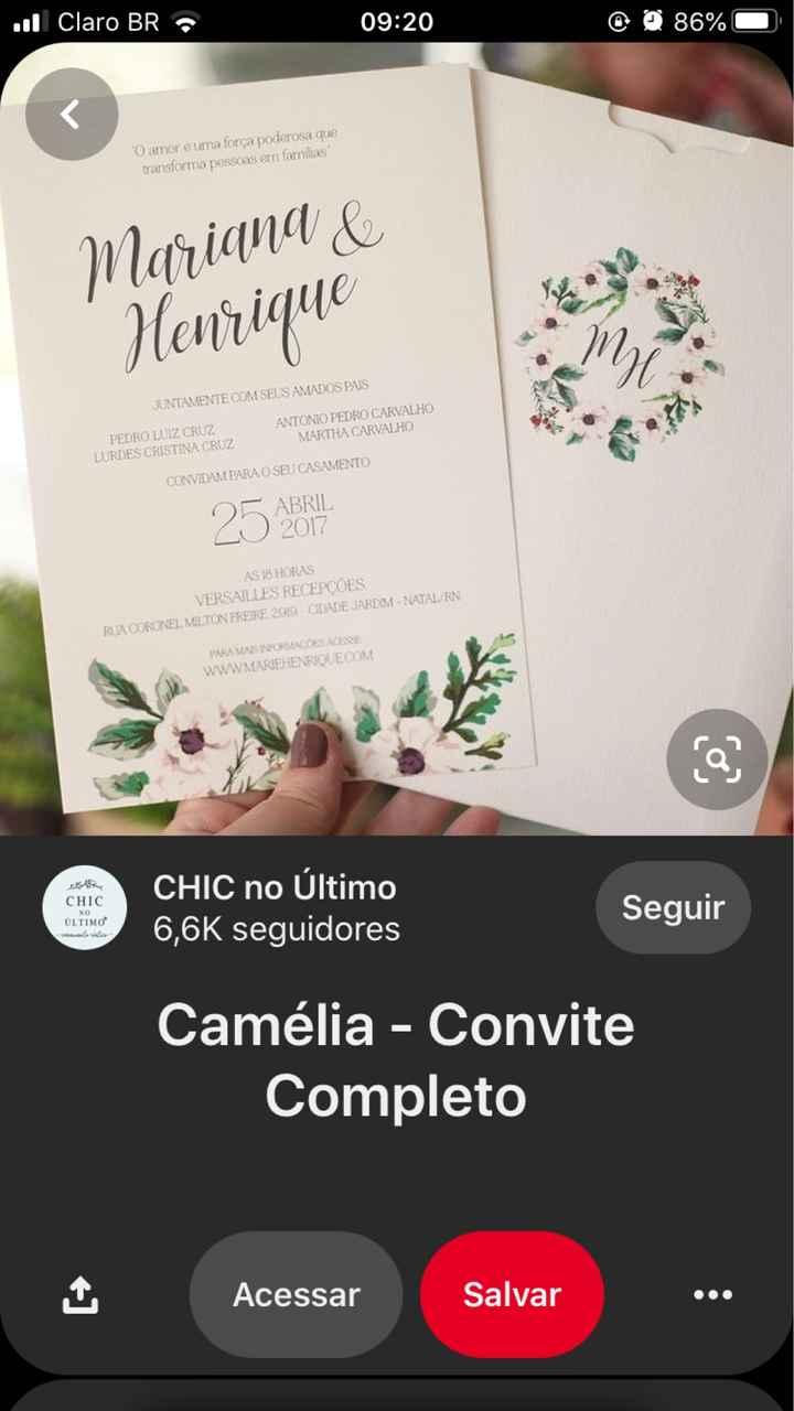 Envelope de convite - 2