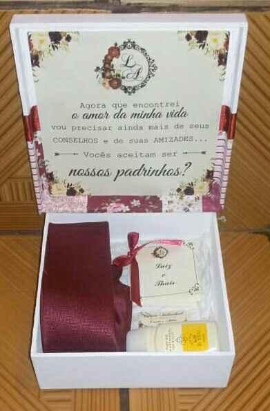Caixa convite padrinhos - 2
