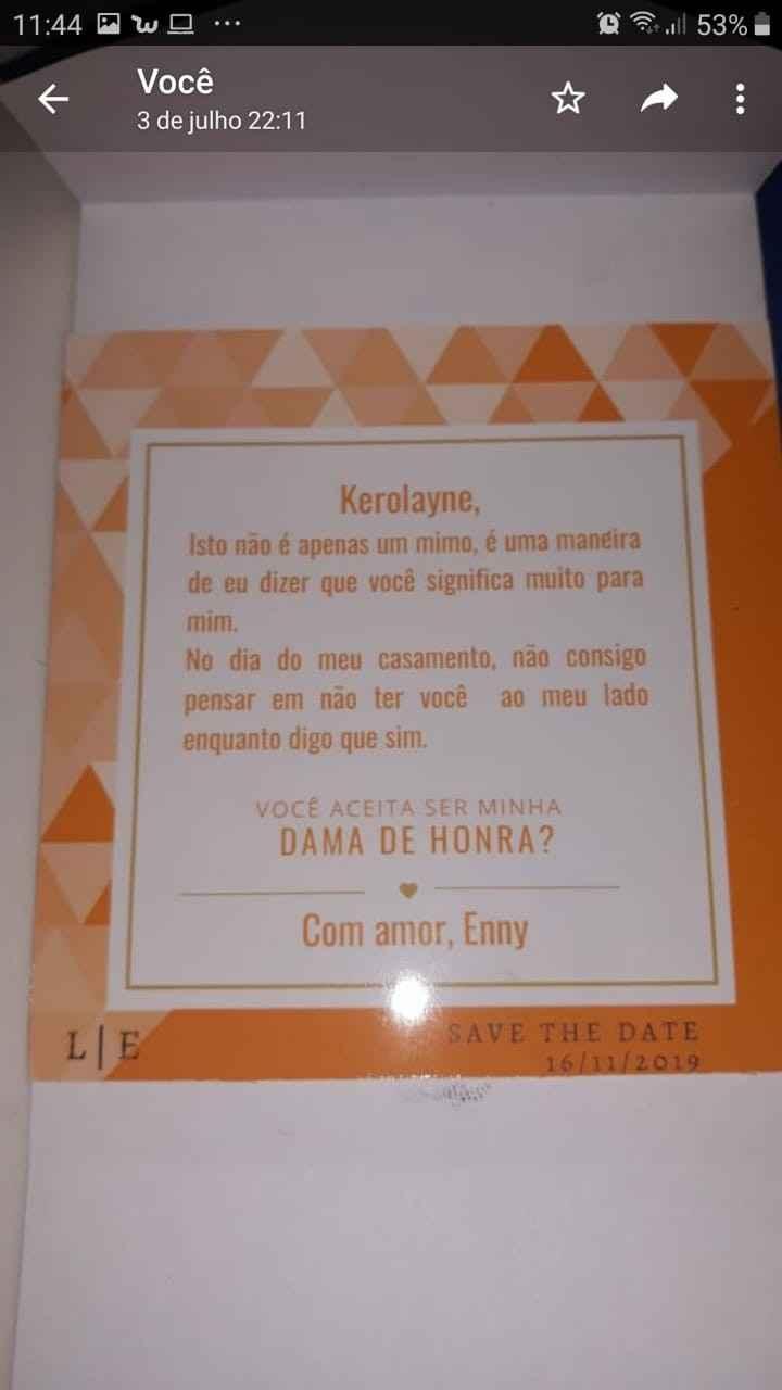 Cartão convite bem laranjado