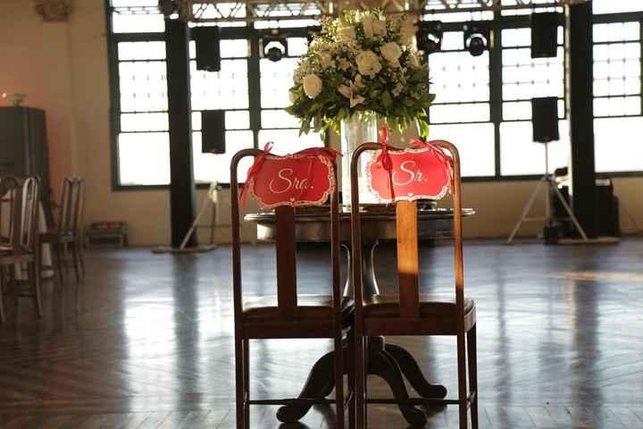 Nossa mesa dos noivos