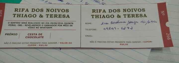RIFA DOS NOIVOS