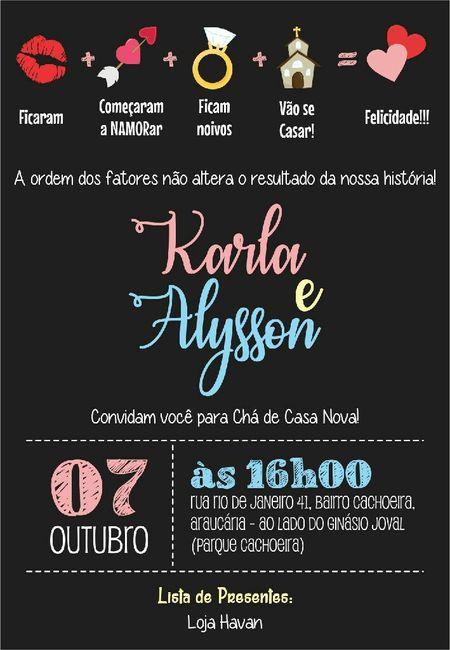 Convite Chá De Casa Nova