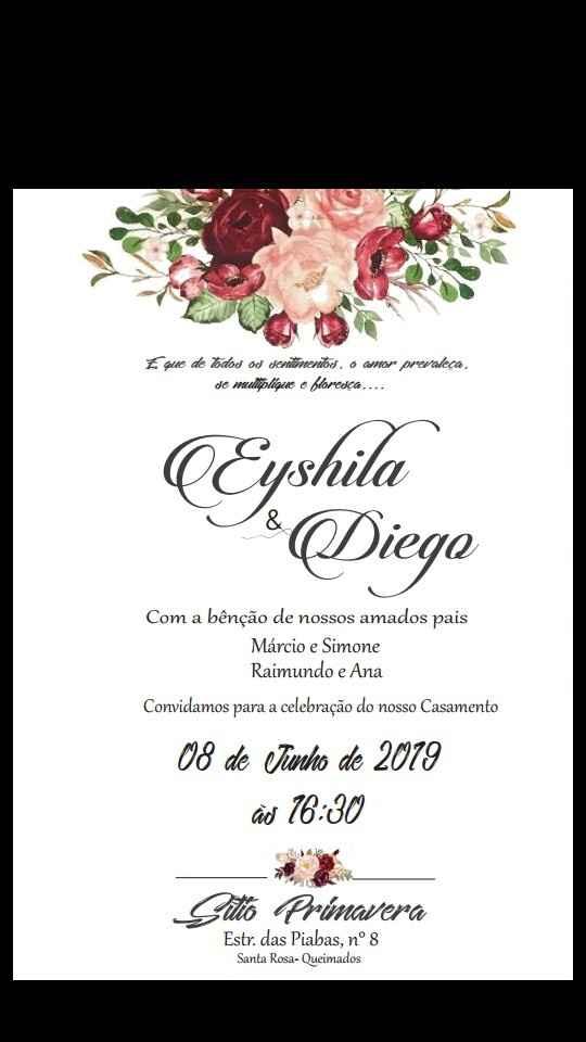 #diy... Convite de casamento - 1