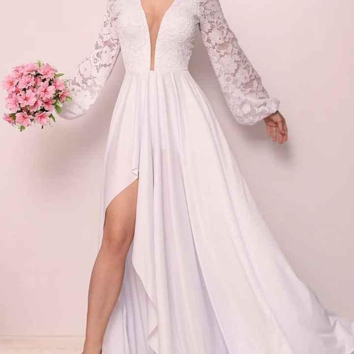 1 único  vestido. - 2