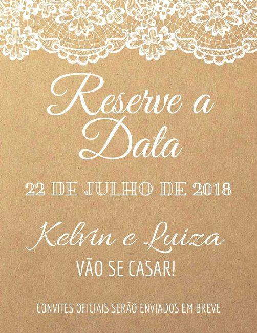 Save the date rústico e digital 1