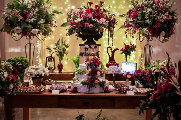 #casei Os detalhes da minha Decoração Marsala e Rosa! 1