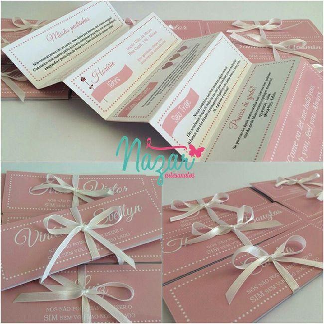 Caixa convite (rústica) para os padrinhos - 3