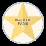 Calçada da fama. Parabéns, você se destacou em alguma ação especial da comunidade e, por isso, deixou sua marca na nossa Calçada da Fama!