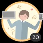 Nerd (20). Você adora estar bem informado e lê todos os artigos para pegar muitas ideias e conselhos. Já comentou 20 artigos, assim que essa medalha, você merece!