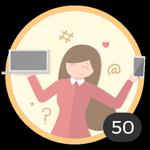 Blogueira (50). Você já criou 50 debates! Internet é um meio para compartilhar suas ideias e dúvidas com os outros. Com essa medalha, pode se considerar um autêntico blogueira.