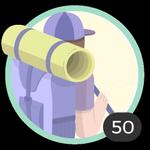 Aventureira (50). Seu espírito aventureiro não conhece limites. Você participou de 50 debates, assim que já pode usar essa bonita medalha.