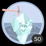 Quebrar o gelo (50). Sabemos que não é fácil quebrar o gelo, mas você não pensou duas vezes e decidiu ser  a primeira  em comentar nesses debates. Merece essa medalha.