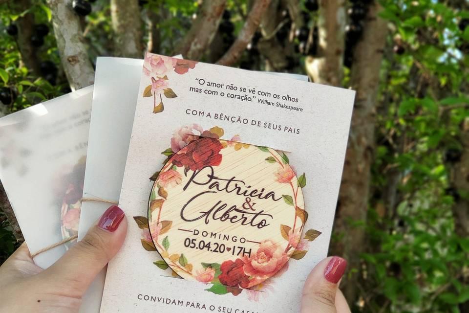 Convite Porta Copos