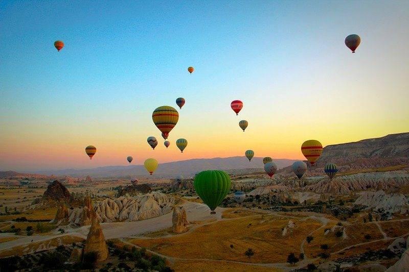 Um voo de balão pela Capadócia