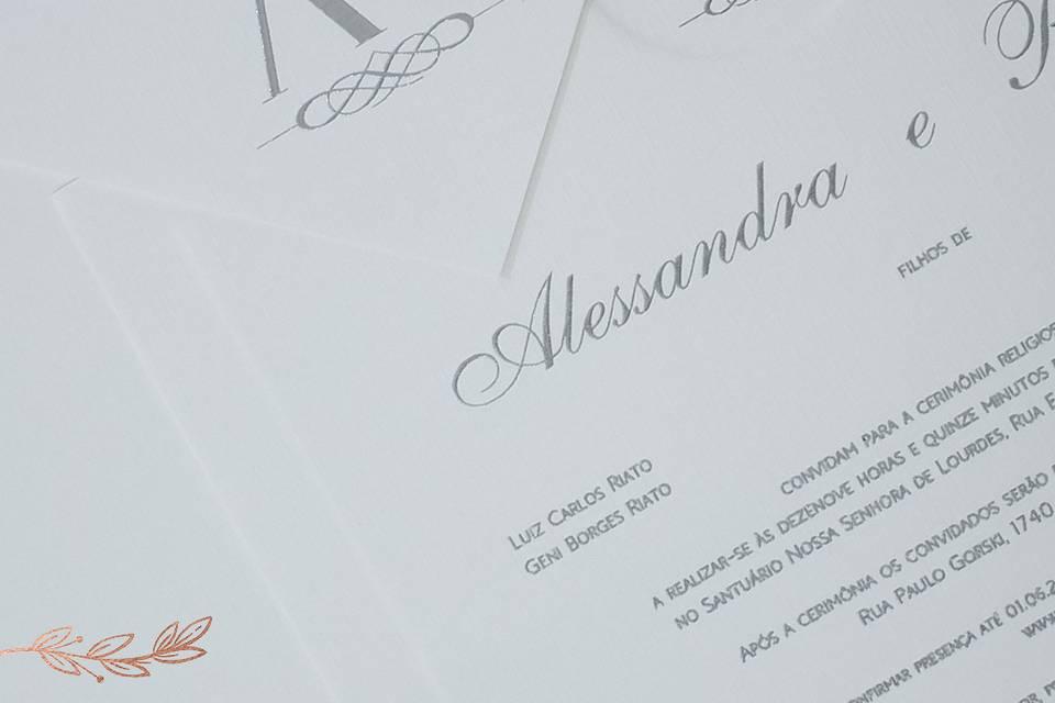 Convite envelope Clássico
