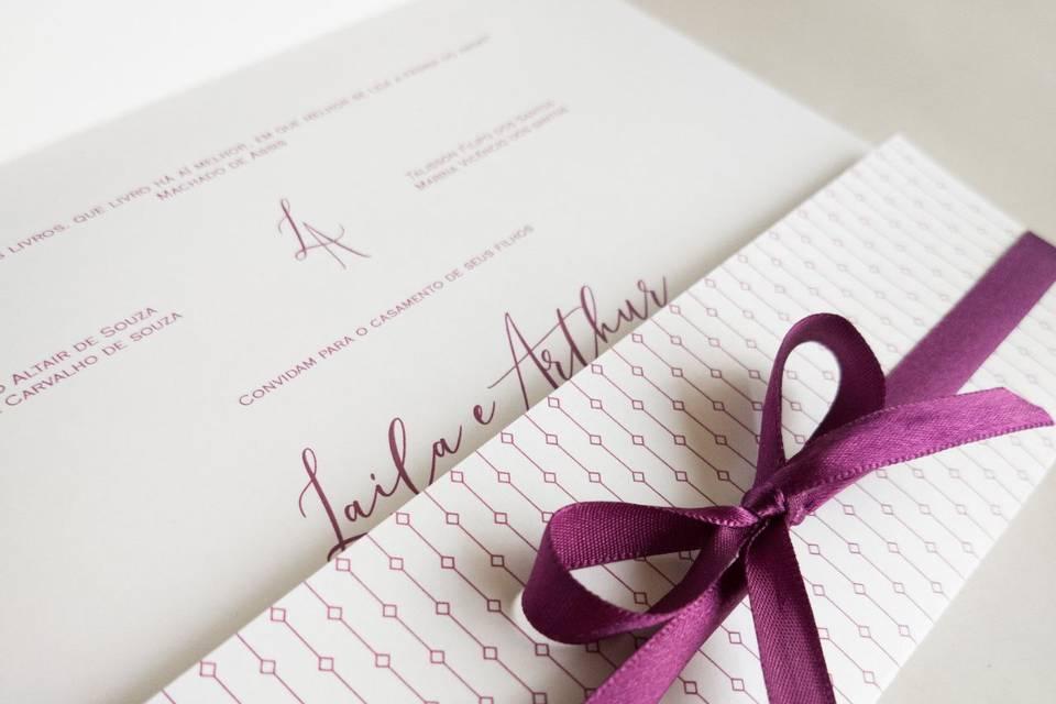 Convite Fold: Laila