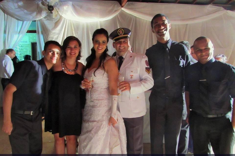 Nossos músicos com os noivos