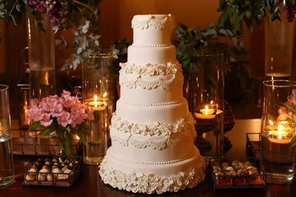 Bolo casamento super luxo
