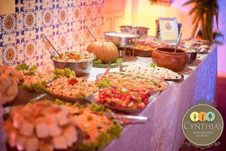 Mesa do buffet