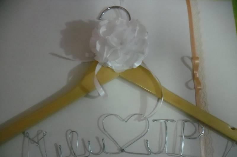 Cabide para vestido da noiva