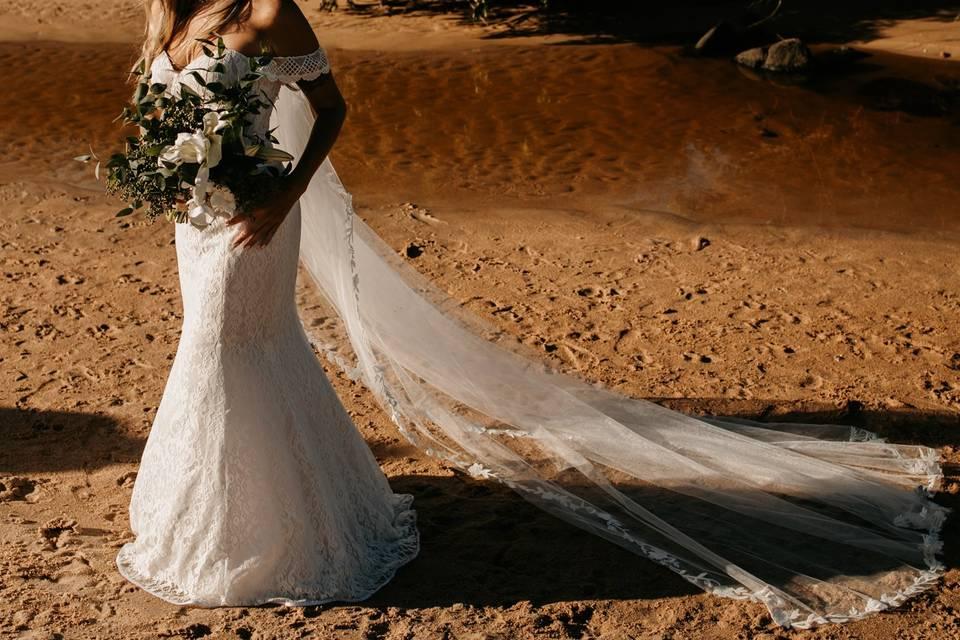 Elopement pé na areia - SC