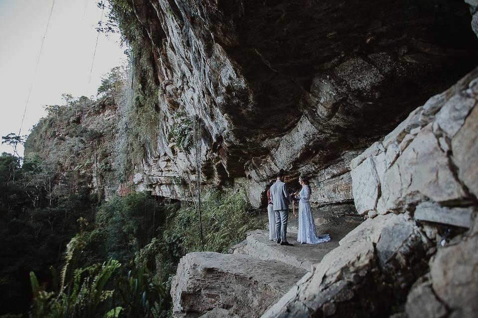 Casamento na Gruta em SC