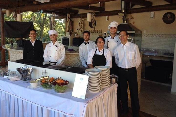 Rose Crepes Buffet