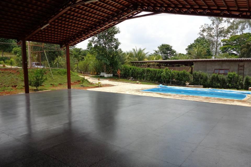 Salão da piscina