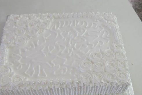 Bolo branco clássico