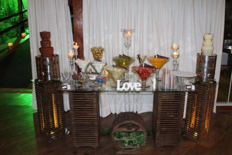 Cascata de chocolates