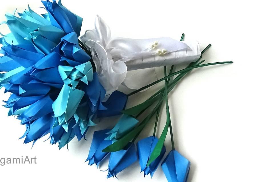 Buquê de tulipa de origami