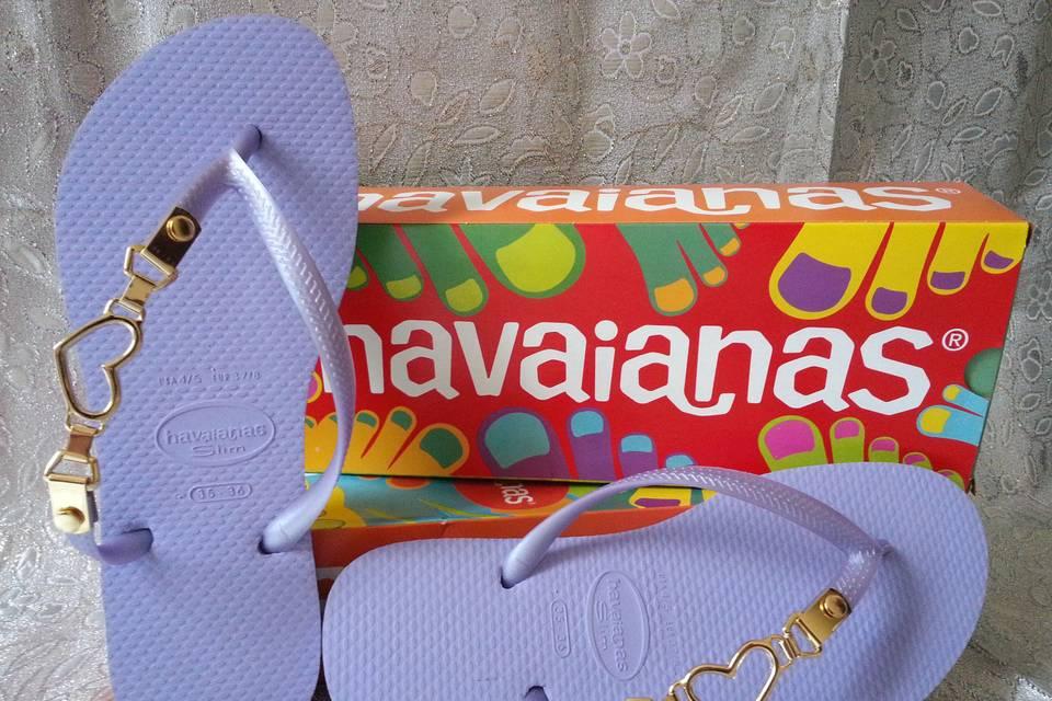 Coruja Havaianas Customizadas