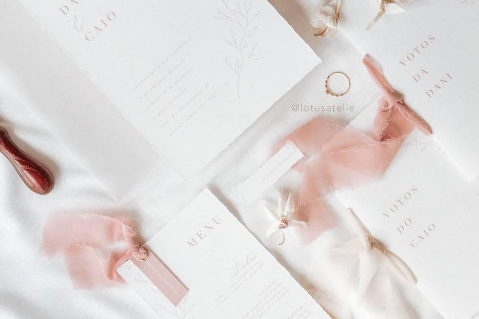 Convite de Casamento Calmaria