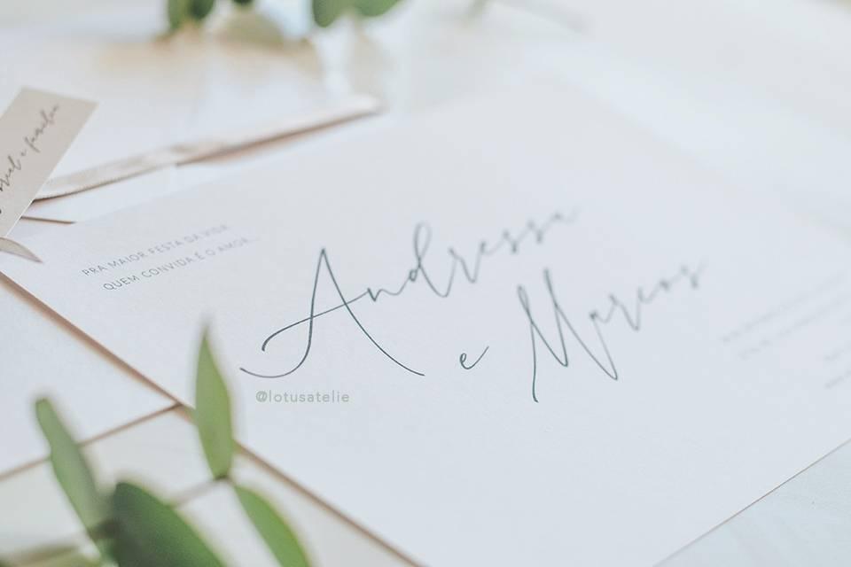 Convite de Casamento Minimalis
