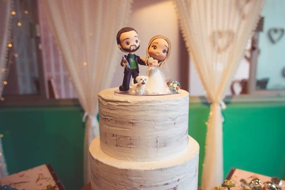 Relicário de Amor - Topo de bolo