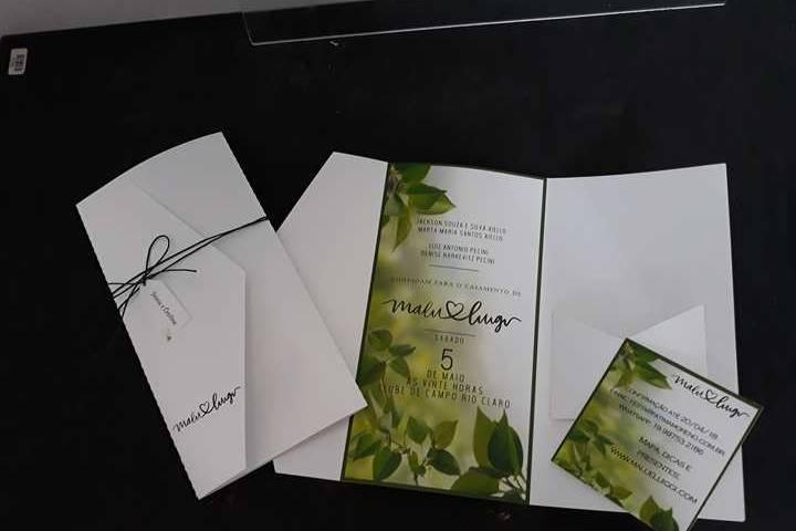 Convite com cartão