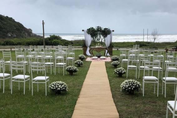 Cerimônia frente mar