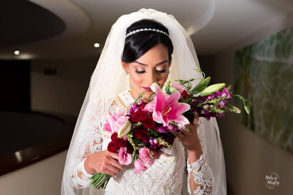 Noiva pronta para ir ao altar
